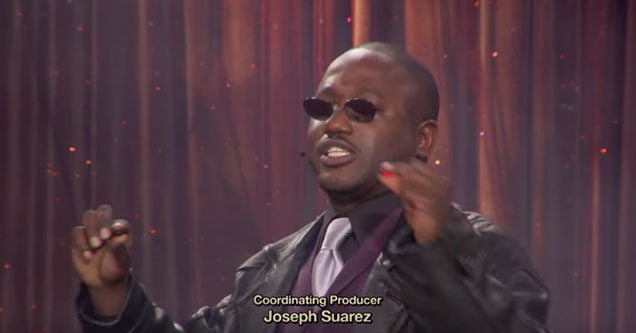 Hannibal Buress dressed up as Morpheus