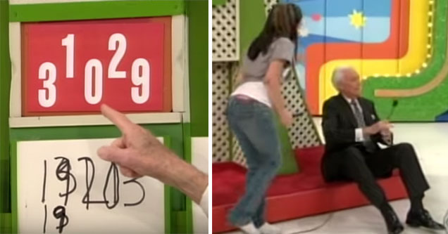 Bob Parker cannot believe this game of the price is right