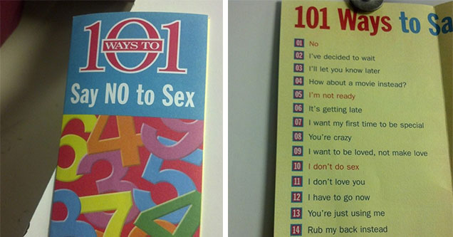 how to say no to sex