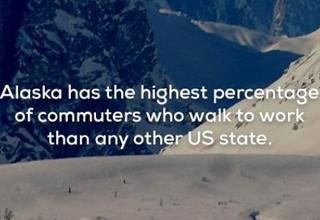 usa fact alaska has most commuters
