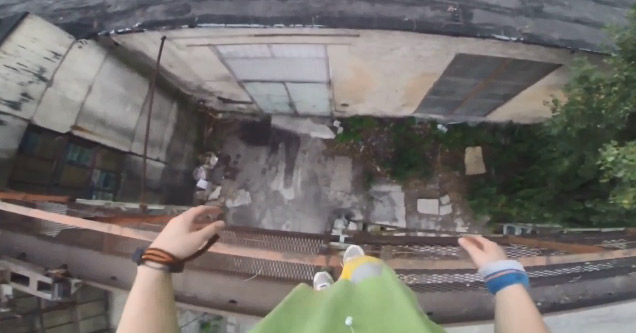 Parkour Stunt Ends Poorly For This Dude