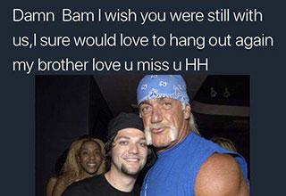 hulk hogan thought bam was dead