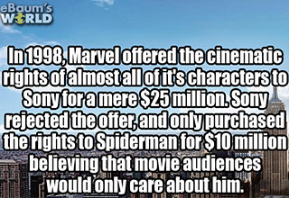 funny fact about spider-man and sony