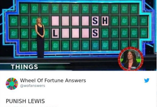 punish lewis puzzle solution on wheel of fortune
