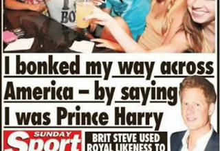 fake prince harry in the news