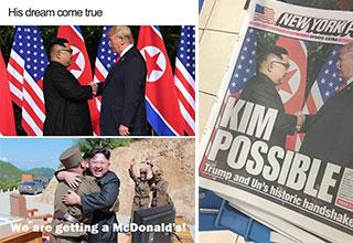 Trump and Kim Jon Un memes