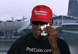 Dennis Rodman crying on CNN