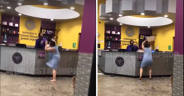 Woman Goes Off in a Planet Fitness