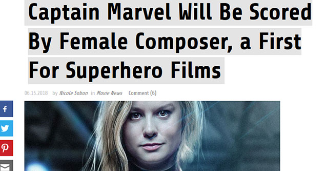 article about captian marvel with brei larson