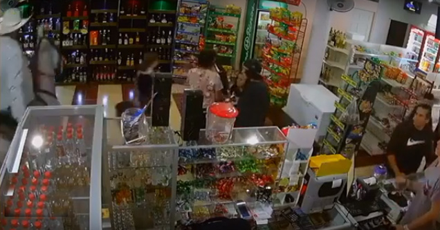 Drunk Man Rides Horse into Convenience Store