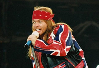 a photo of a yougn axle rose next to a photo of an older axle rose