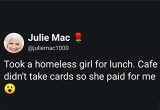 a tweet from user @juliemac1000