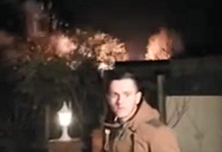 a firework launches sideways and explodes in a neighbors house