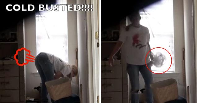 maid on hidden camera stealing coins