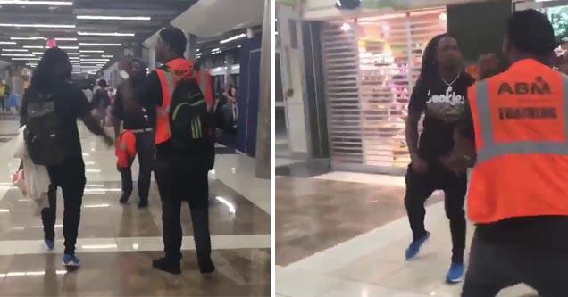 pacman jones squaring up at an airpot employee