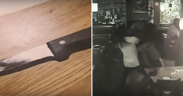 kitchen knife and a fight at applebees