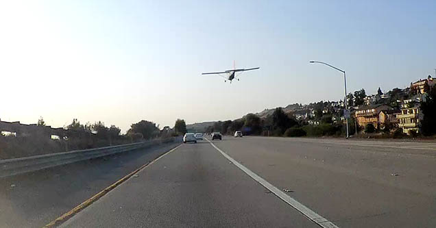 Plane Attempts to Land on Busy California Highway
