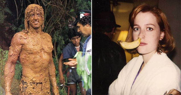 pictures of celebrities doing strange things