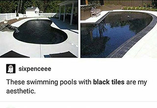 what a pure black pool would do in the sun