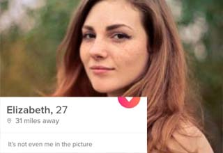 a lady on tinder who's profile is stolen