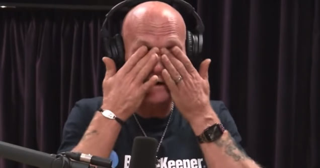 former death row inmate nick yarris  wiping his eyes after crying
