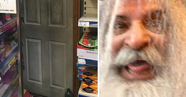 crazy guy found living in a closet