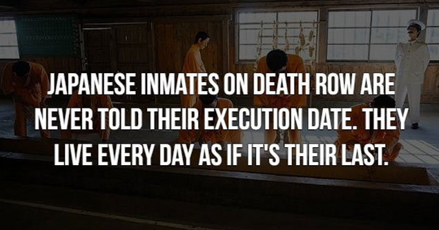 text about japanese prisoners on death row are never told when they are going to be executed