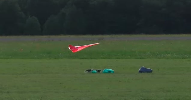 a red remote controlled jet that can hit 400 miles per hour