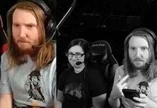 a man looking confused and then sad while gaming on twitch
