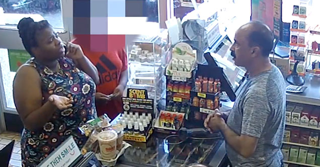 A woman is arguing with a convenience store employee over the price of her coffee off of Montauk Highway on August 30th, 2018.
