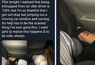 woman was almost kidnapped by and Uber driver