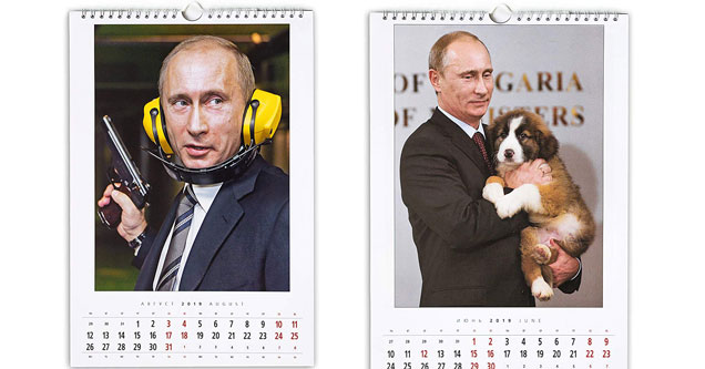 putin 39 s 2019 calendar is here and it 39 s as bizarre as you 39 d. Black Bedroom Furniture Sets. Home Design Ideas
