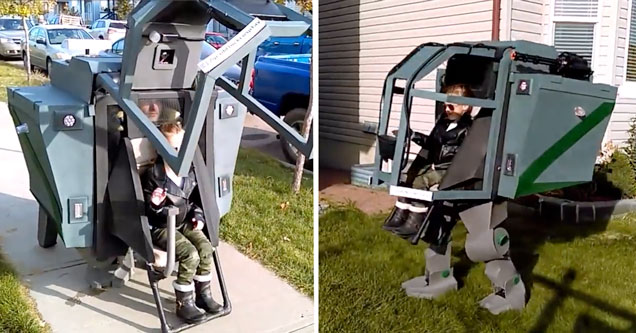 Father daughter mech costume