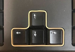 rubber band around arrow keys