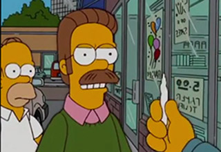 Ned Flanders being offered weed.