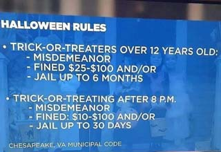 a list of halloween rules broadcast on a local news station, the stars of the big lebowski then and now