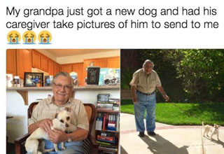 A nice man who got a new dog.