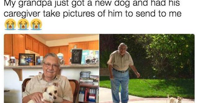 A nice man who got a new dog.