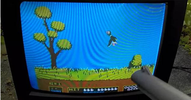 Duck hunt on tv with light gun.