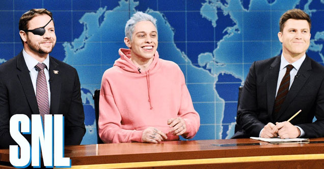 weekend update with colin jost, pete davidson and lt com dan crenshaw