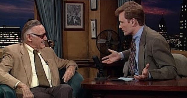 Stan Lee talking to Conan.