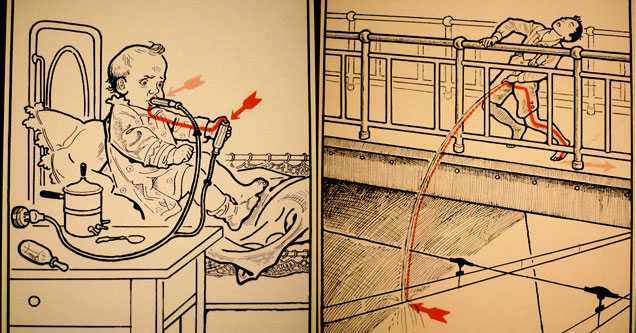 two examples from a book on electrocution from 1931