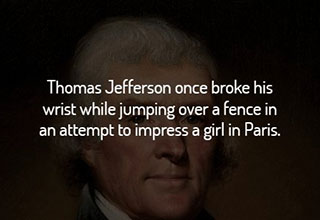 Thomas Jefferson sprain wrist.