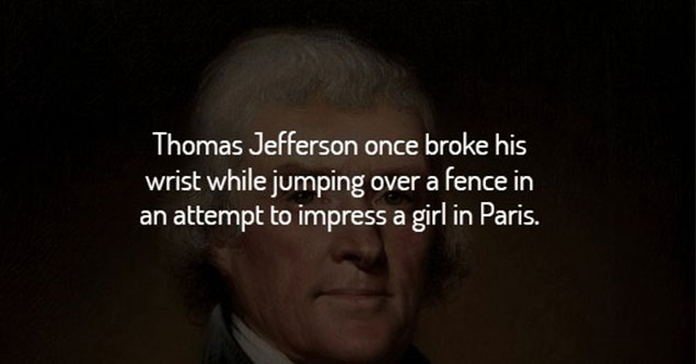 Thomas Jefferson sprain wrist.