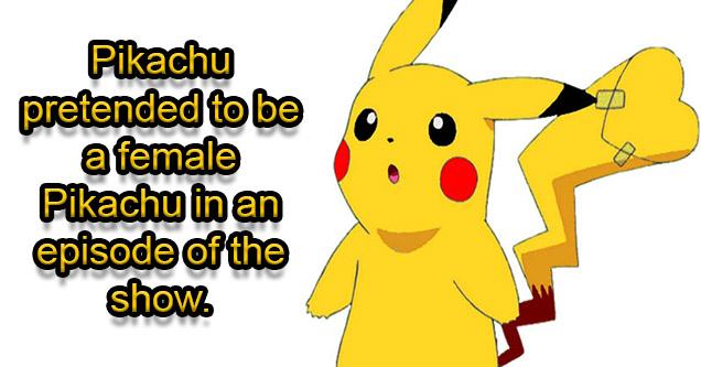 Pikachu pretending to be a female.
