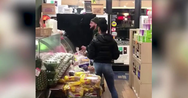 New Yorker in a deli screaming at the man making his bagel