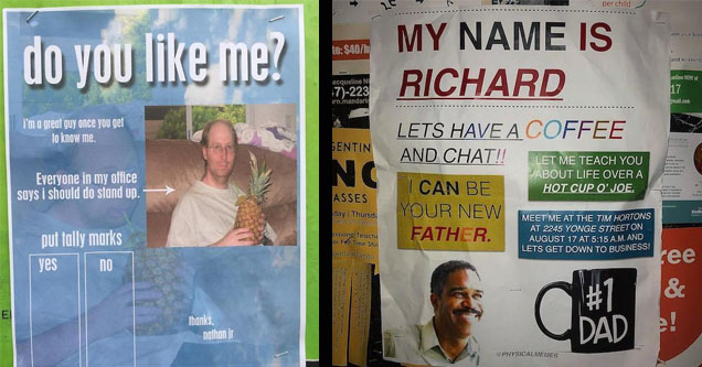Flyers about if you like someone.