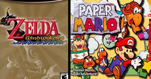 Zelda the windwaker and paper mario.