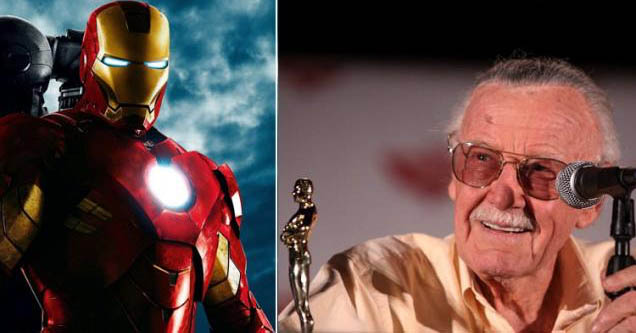 Iron Man and Stan Lee