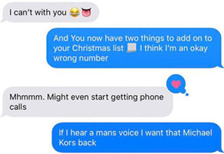 a photo of a text message conversation
